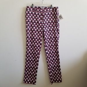 Anne Klein NWT Blue/Red/White Geometric Pants